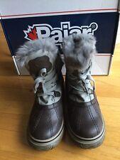 Womens Pajar-canada Woterproof Icepick Boot Dk Brown/grey Size39 8-81/2