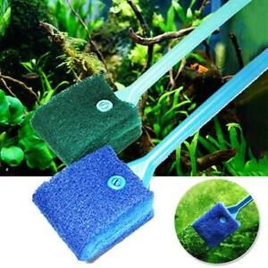 Fish Tank Aquarium Glass Cleaner Brush Scraper Algae Dust Cleaner Sponge Tools