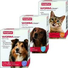 Beaphar Worming Treatment Wormclear Tablets For Cats, Small Dogs And Large Dogs