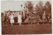 (F17206) Orig. Foto Personen auf Kremserwagen, Pferdegespann 1928