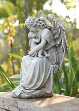 "Angel with Baby Garden Statue 15""H"