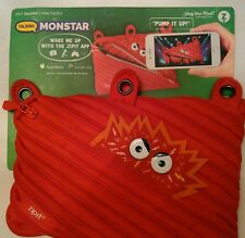 New Red Zipit Talking Monstar Pencil 3-Ring Pouch Cosmetic Case Cell Phone Bag