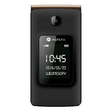 Aspera F24 Seniors Mobile Phone - Loud Speaker, Large Keys (Gold)
