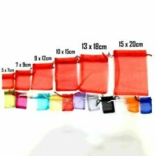 50 25 LUXURY Organza Gift Bags Jewellery Pouches Wedding Party