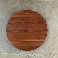 Platte Nussbaum Massiv Holz Rund runde Form Tischplatte Arbeitsplatte Wallnuß