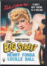 The Big Street (DVD) 1942 Lucille Ball, Henry Fonda  NEW