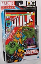 HASBRO MISP Marvel Universe HULK WOLVERINE Greatest Battles Comic Book Pack #181
