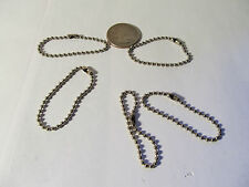 "Vintage 4.5"" NOS Bead Chain for G.I joe Dog Tag-  Lot of 5"