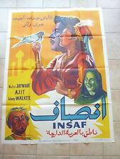 cinema affiche film INDE Bollywood - INSAAF de Kedar Kapoor avec  Nalini JAYWANT