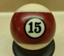 """Vintage Used 2 1/4"""" Replacement Pool #15 MAROON Striped Ball 2.25"""" Replacement"""