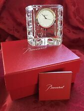 NEW NIB FLAWLESS Exquisite BACCARAT Crystal EQUINOXE EQUINOX CLOCK Paperweight