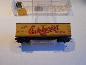 """MICRO TRAINS-UNITED REFRIGERATOR """"EDELWEISS"""", WOOD SIDED REEFER, NIB, RD #18301"""