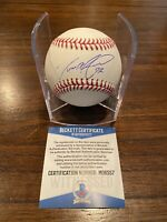 Dereck Rodriguez Signed ROMLB Baseball Rockies Giants Witness Beckett 2