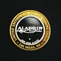 Ltd Ed Aladdin Las Vegas Resort Casino $10 Token .999 Fine Silver A2017