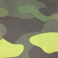 20 paper napkins decoupage collection Serviette Army Military Pattern camouflage