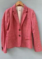 J Crew Schoolboy Blazer 6 Heathered Pink Jacket Linen Cotton Blend Factory