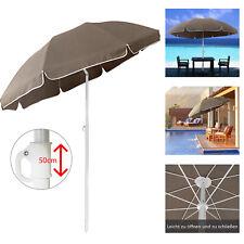Sonnenschirm Gartenschirm Ø2m Khaki Ampelschirm Marktschirm Sonnenschutz Strand#