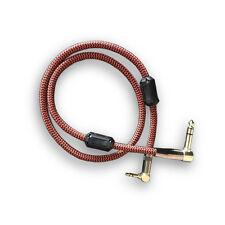 "Angle TS Jack 1/4"" 6.35mm to 3.5mm Mini Jack 1/8"" PC Mixer Headphone Cable 1M"