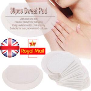 30 Disposable Sweat Pad Antiperspirant Underarm Armpit Guard Sheet FREE POST
