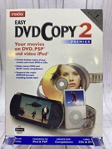 ROXIO Easy DVD Copy 2 Premier RARE CIB Complete 2004 PSP Movies DVD'S