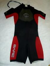 BARE Plazma 2/2mm Powerstretch Glideseal Youth 14 yrs Red/Black SHORTY WETSUIT