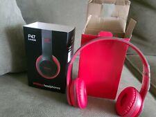 Wireless Bluetooth Headphones TF Card FM Stereo Radio, MP3 Player P47 5+EDR READ