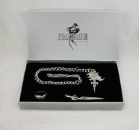 Final Fantasy VIII 4 Items Set Necklace Ring Earrings Keychain FF8 Cosplay Cloud