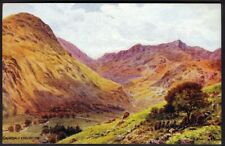 Grisedale & Helvellyn. AR Quinton Vintage Art Postcard, No *1491