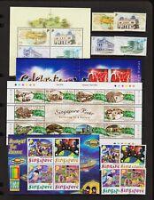 Singapore - 3 sets, 2 souvenir sheets, 1 booklet, cat. $ 31.75