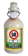 50 Jahre - Herzlichen Glückwunsch 0,5 Liter Tonflasche Bier mit Bügelverschluss