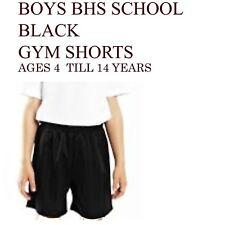 Boys School PE Football Black Shorts BHS Ages 4 Till 14 Years