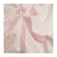 Rose pin spot en polycoton imprime robe tissu vendu par mètre