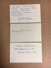 John Paul Jones 1919  Boston Braves/NYG Signed Index Card JSA Precertified**