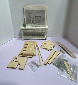 VTG NOS CIRKIT Lighted Colonial Mini Dollhouse For Dollhouse Kit Miniature 1:12