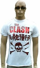 Amplified Clash Skull Rock Star Strass diapositive cucitura esterno Vintage WOW T-SHIRT XL