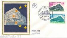 1978**ENVELOPPE SOIE**FDC 1°JOUR!!**CONSEIL DE L'EUROPE**TIMBRE Y/T 58-59