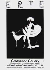 Ebony in White, 1982 Exhibition Silkscreen Poster, Erte - SIGNED!