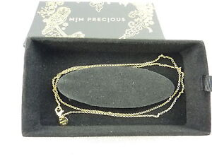 MIMCO Jewellery Belcher 55cm Neck/ Necklace Chain/ Charm BNWT- Gold rrp$149