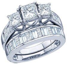 1.0 Ct 14K White Gold Ladies Bridal Engagement 3-Stone SI Clarity Diamond Ring
