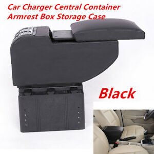 Universal 6 USB Rechargeable Style Car Charger Central Armrest Box Storage Case