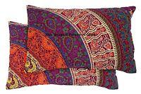 2 PC Indian Pillow Slip Ethnic Mandala Design Cushion Cover Pouf Sham Bohemian