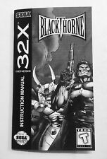 Blackthorne - Sega 32X - Reproduction Manual Instruction Booklet - Genesis Game