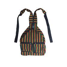 "Reggae Rasta Surfer Zipper Backpack Sack Tote Bag Hippie Irie Jamaica Marley 16"""