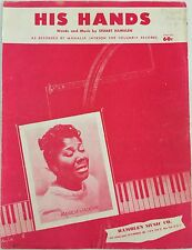 MAHALIA JACKSON black singer HIS HANDS gospel song STUART HAMBLEN 1954