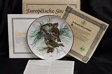 """Alt Tirschenreuth """"Firecrest"""" Collector's Plate By Ursula Band"""