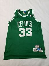 Boston Celtics Larry Bird #33 Adidas Hardwood Classics NBA Sewn Jersey Mens M