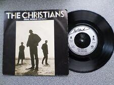 "THE CHRISTIANS - IDEAL WORLD - 7"" VINYL SINGLE - P/S"