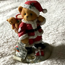 "Cherished Teddies Kris 272140 ""Up On The Rooftop"" Santa w/ Toys"