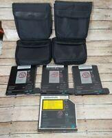 Vintage Lot IBM Thinkpad 1.44mb Floppy Drives & CD-RW/DVD Drive with Cases