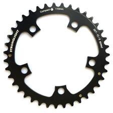 Platos y coronas negras para bicicletas 38 dientes